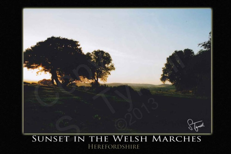 Sunset in the Welsh Marches
